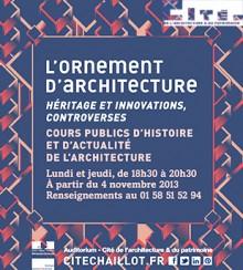 Cours publics de la Cité de l'architecture & du patrimoine