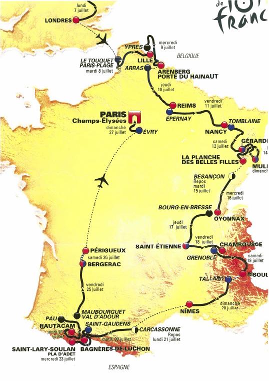 Tour de France 2014 étapes