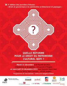 Colloque Angers – 15 et 16 décembre 2015